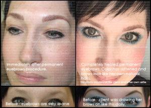 Permanent makeup healing time