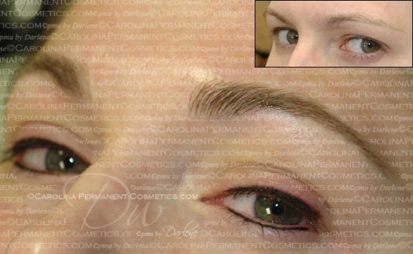 Eyebrows and eyeliner can be done at the same appointment.